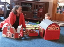 Granny H2 playing barn